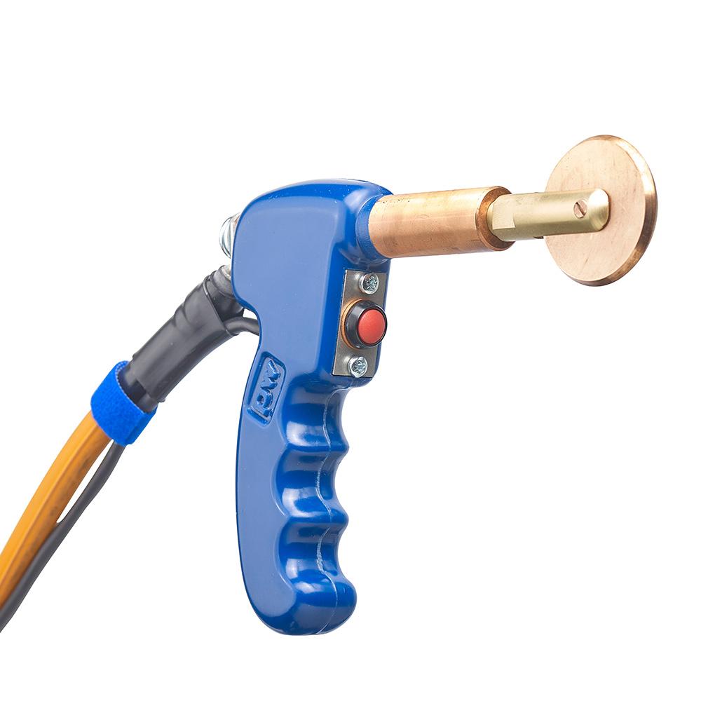 PW poke welding gun with roll spot wheel